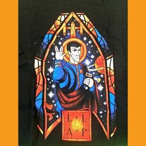 Star Trek Spock saint t shirt xl unisex women men